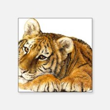 "young tiger Square Sticker 3"" x 3"""