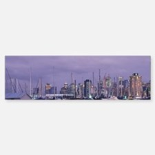City skyline and marina from Stan Sticker (Bumper)