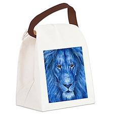 Winter Lion Canvas Lunch Bag