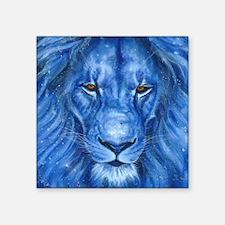 """Winter Lion Square Sticker 3"""" x 3"""""""