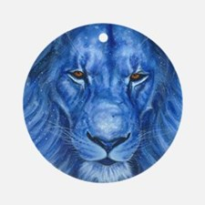 Winter Lion Round Ornament