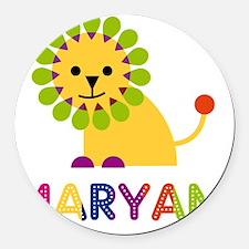 Maryam-the-lion Round Car Magnet