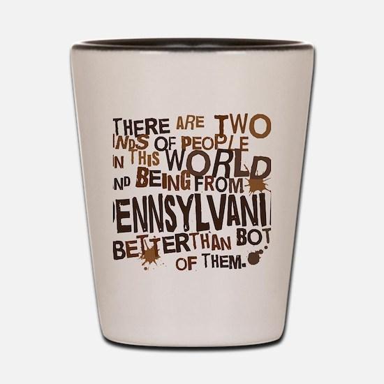 pennsylvania_brown Shot Glass