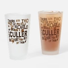 sculler_brown Drinking Glass