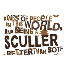 sculler_brown Postcards (Package of 8)