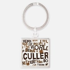 sculler_brown Square Keychain