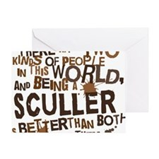 sculler_brown Greeting Card
