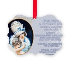 1 A LVP CVRS BIG HAT LADY Ornament