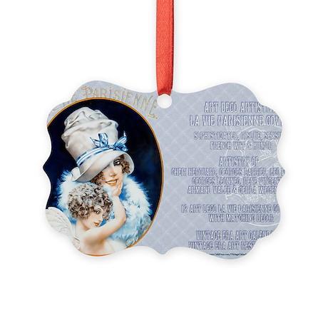 1 A LVP CVRS BIG HAT LADY Picture Ornament