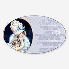 1 A LVP CVRS BIG HAT LADY Sticker (Oval)