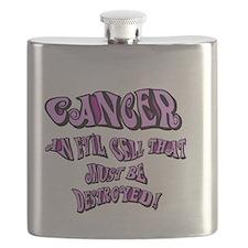 cancer Get Bent Flask