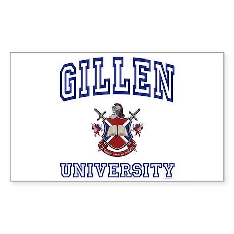 GILLEN University Rectangle Sticker