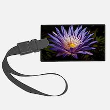 Purple Lotus Luggage Tag