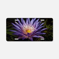 Purple Lotus Aluminum License Plate
