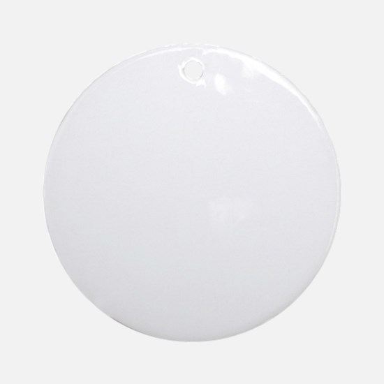 sculler_white Round Ornament
