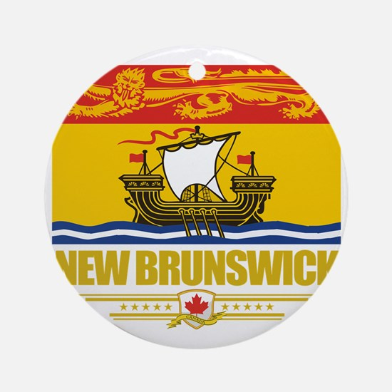New Brunswick Flag (Flag 10) Round Ornament