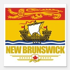 "New Brunswick Flag (Flag Square Car Magnet 3"" x 3"""