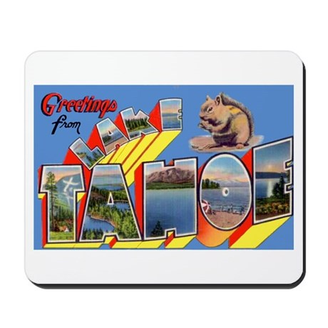 Lake Tahoe Greetings Mousepad