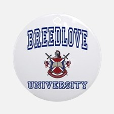 BREEDLOVE University Ornament (Round)