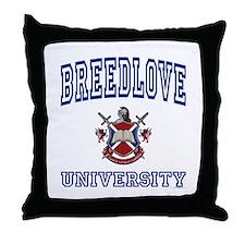 BREEDLOVE University Throw Pillow