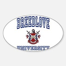 BREEDLOVE University Oval Decal