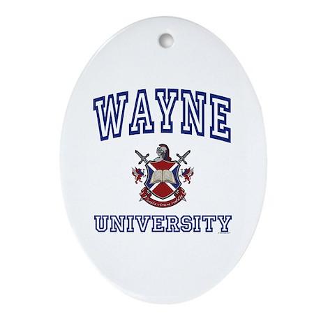 WAYNE University Oval Ornament
