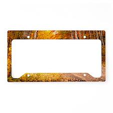 AutumnFoliageRural_4X6_postca License Plate Holder