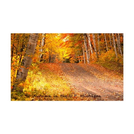 AutumnFoliageRural_4X6_postcard 35x21 Wall Decal