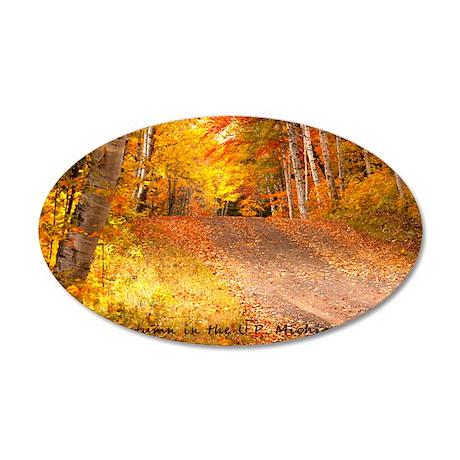 AutumnFoliageRural_4X6_postc 35x21 Oval Wall Decal