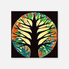 "fire-tree-yellow bloom Square Sticker 3"" x 3"""