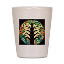 fire-tree-yellow bloom Shot Glass