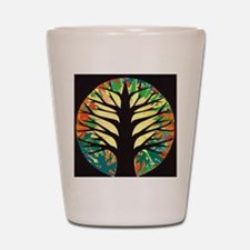 fire-tree-yellow bloom Shot Glass