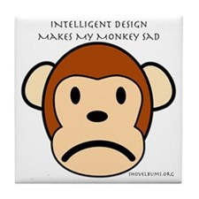 Intelligent Design Makes My Monkey Sad Tile Coaste