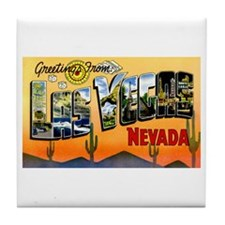 Las Vegas Nevada Greetings Tile Coaster