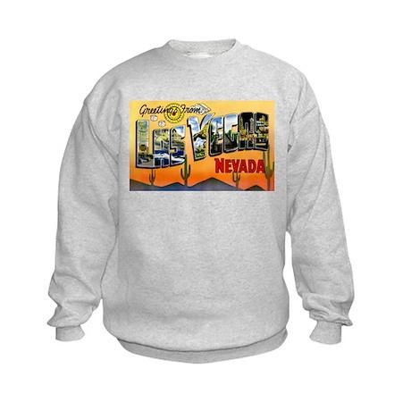 Las Vegas Nevada Greetings (Front) Kids Sweatshirt