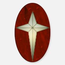 Bethlehem Star Christmas Charms Sticker (Oval)
