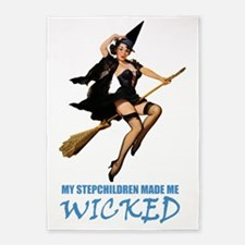witch STEPCHILDREN wicked BLUE 5'x7'Area Rug