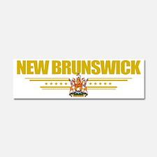 New Brunswick (Flag 10) pocket Car Magnet 10 x 3
