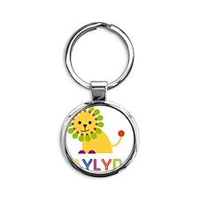 Jaylyn-the-lion Round Keychain