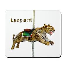 carousel leopard Mousepad