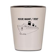 Custom Cruise Ship Shot Glass