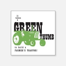 "Oliver Green Thumb Square Sticker 3"" x 3"""
