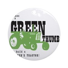 Oliver Green Thumb Round Ornament