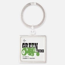 Oliver Green Thumb Square Keychain