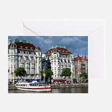 StockholmBoat-Long Greeting Card