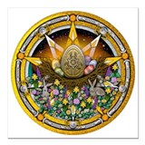 Wiccan Square Car Magnets