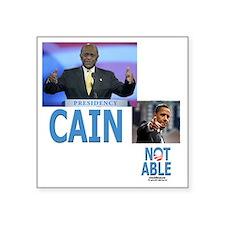 """Cain O template 092711 Square Sticker 3"""" x 3"""""""