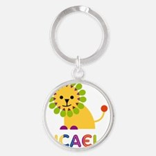 Micaela-the-lion Round Keychain