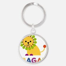Abagail-the-lion Round Keychain