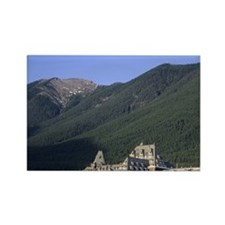 The Banff Springs Hotel in Banff, Rectangle Magnet